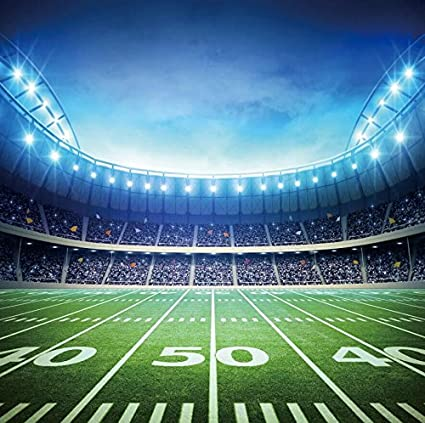 Amazon com : 9x9ft Football field background Green Screen