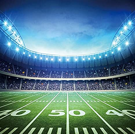 Amazon Com 8x8ft Football Field Background Green Screen Backdrop