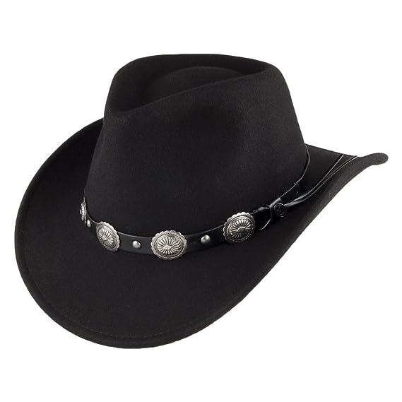d13fc8ecadc Jaxon   James Tombstone Cowboy Hat - Black  Amazon.co.uk  Clothing