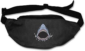 Unisex Pockets Shark Survival Fanny Pack Waist / Bum Bag Adjustable Belt Bags Running Cycling Fishing Sport Waist Bags Black