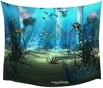 Yyoutop Edificio Medusas de mar del océano Tortuga Sunbeam
