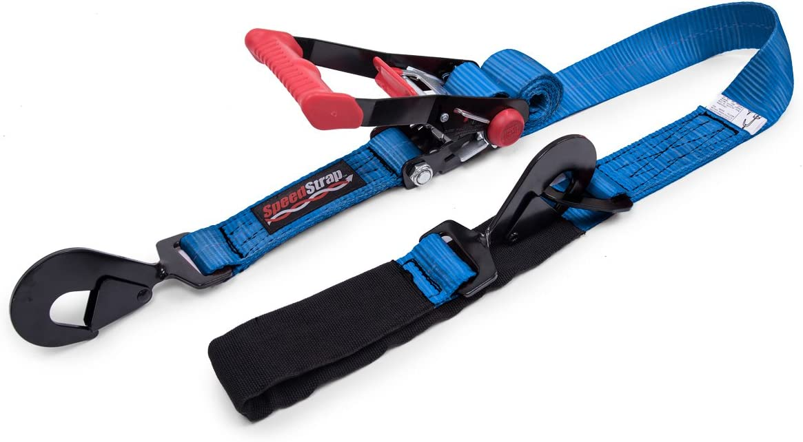 SpeedStrap 27002 Blue Ratchet Tie Down Twisted Snap Hook and Axle Strap Combo