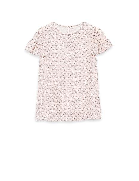 Oltre - Blusa de tejido vaporoso efecto raso, Mujer, Rosa, 46