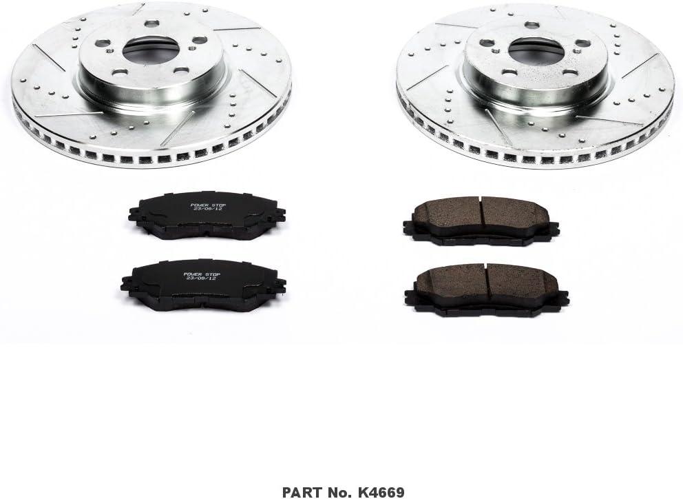 EBC Brakes S12KF1244 S12 Front Kits Redstuff and RK Rotors-Auto Version of S14 Front Kits