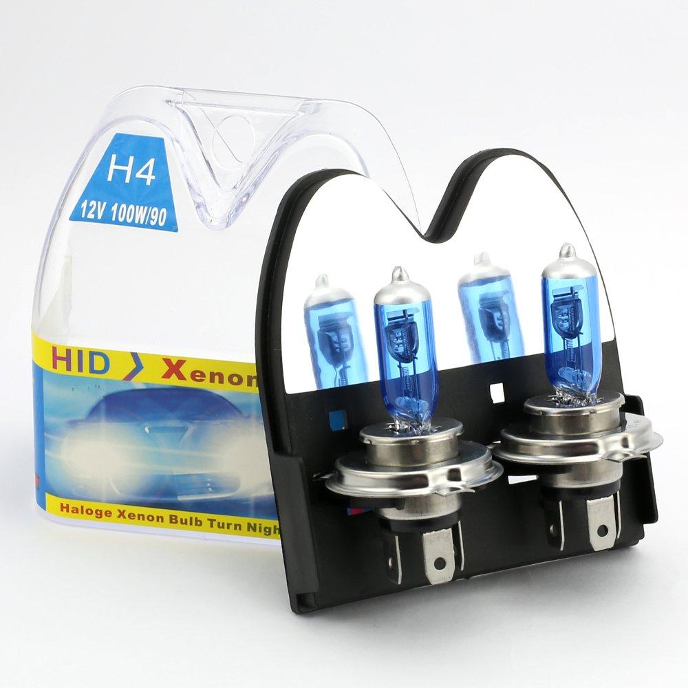 2x H4 100W Proiettori Auto Torcia Alogena Gas Xenon luce 12V Super Lluminoso Nebbia Xenon HID Bulbo Bianco