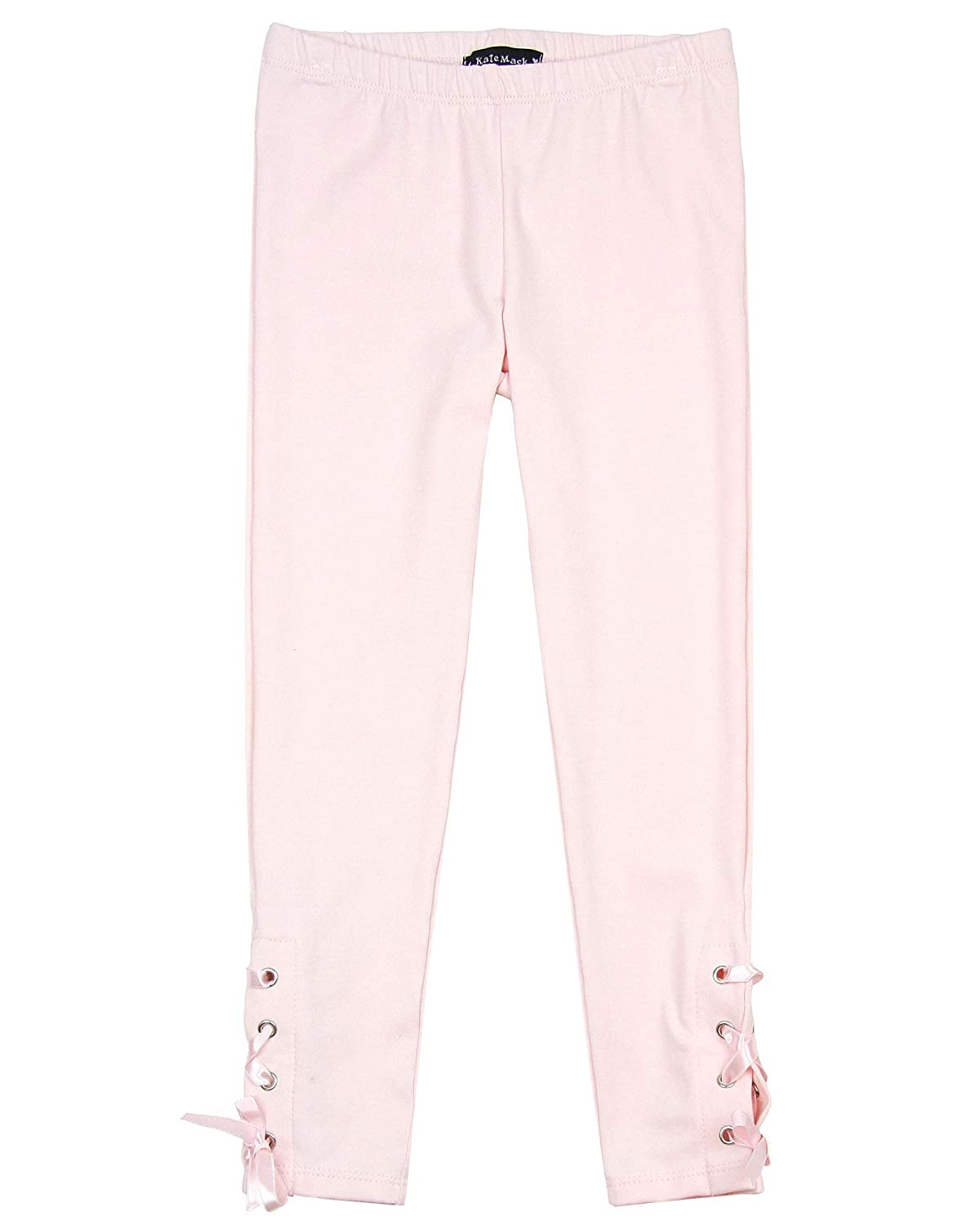 Sizes 4-10 Kate Mack Girls First Position Leggings with Laces in Pink