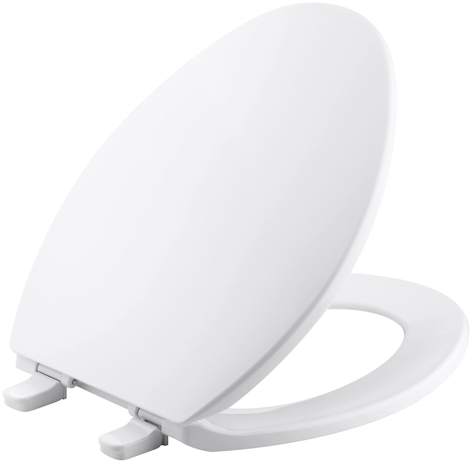 KOHLER K-4774-0 Brevia Elongated White Toilet Seat, with Quick-Release Hinges, Quick-Attach Hardware, Convenient Cleaning, Quick and Easy Installation