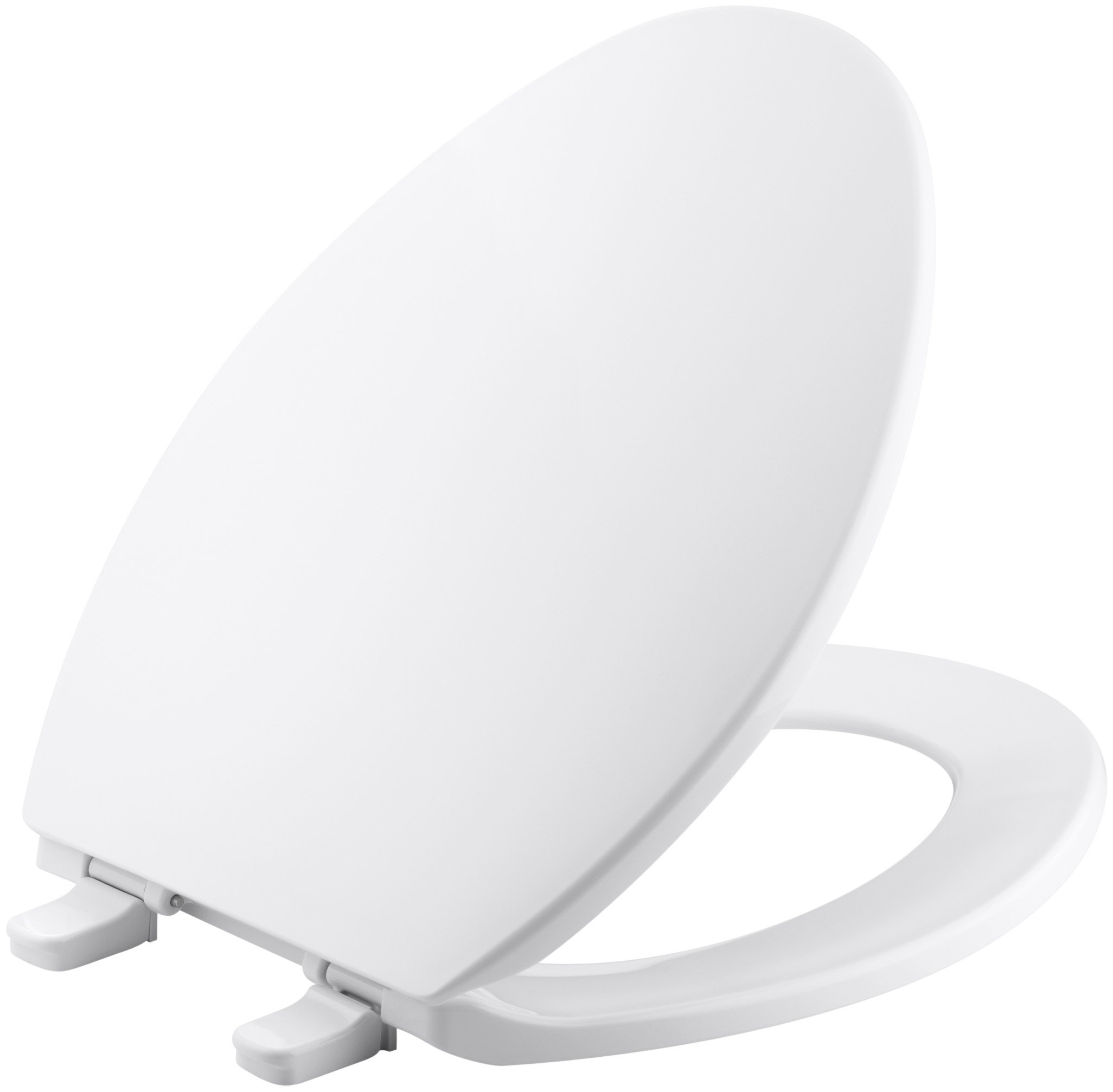 Kohler K-4774-0 Brevia Elongated White Toilet Seatwith Quick-Release Hinges And Quick-Attach Hardware For Easy Clean by Kohler