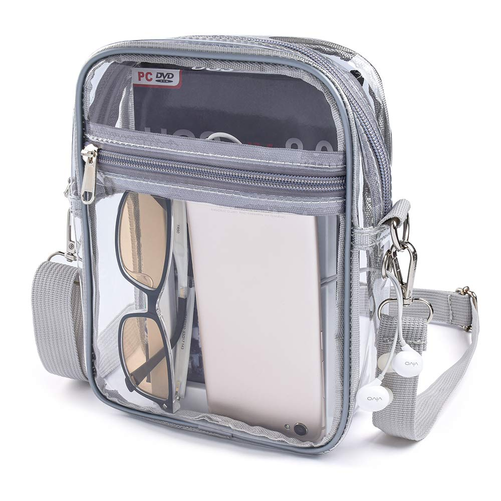 Clear Purse Clear Stadium Bag Approved for Concerts Sports Events Shopping Park NFL /&PGA Approved Sports Fan Handbags /& Purses Cross-Body Shoulder Messenger Bag with Adjustable Strap