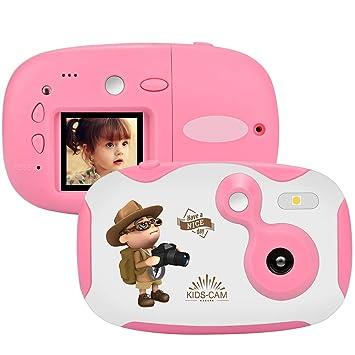 weton Kinder Kamera, 1,44 Digital Videokamera Kreative DIY Kamera FÜR Kinder Mit Silikon SchutzhÜLle 1080p HD Sport Mini Kame