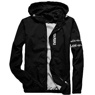 5caa6cf60 Homaok Men's Lightweight Breathable Jacket at Amazon Men's Clothing ...