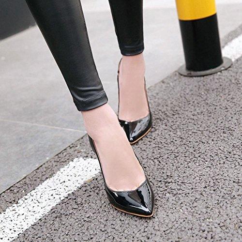 MissSaSa Damen stiletto slingback Pointed Toe Pumps Schwarz