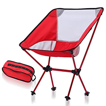 ZHEDIEUIZI Luna Camping Silla Plegable, Portable Al Aire ...