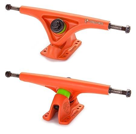 BEAR Grizzly 8.52 52° 181mm Gen 5 Longboard Skateboard Trucks (Atomic Orange, Set of 2)