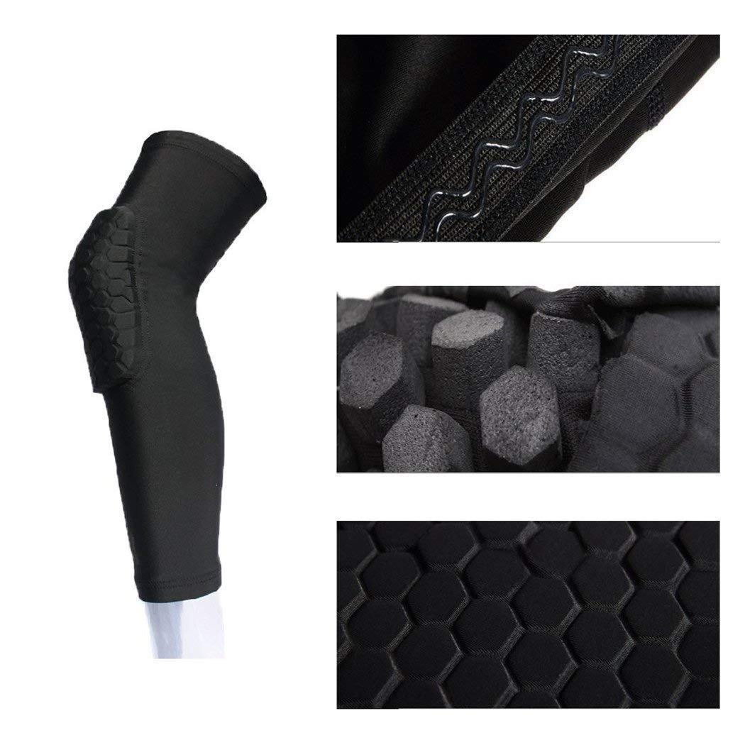 Yellow White Basketball Rugby Sports Knee Sleeve Pad Volleyball Kids Youth /& Adult Size Compression Brace for Baseball Black 1 Pair Football Purple