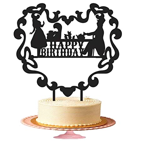 Feliz cumpleaños Decoración para tarta para Tea Party ...