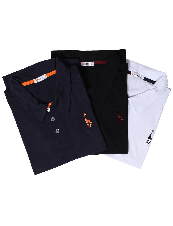 【H2H】 メンズ カジュアル ゴルフウェアー ファッション ベーシック 無地 スリームフィット ワンポイント 半袖 ポロシャツ B01KO4NQFW US Medium (Asia X-Large)|Set3jdsk36-multi3 Set3jdsk36-multi3 US Medium (Asia X-Large)