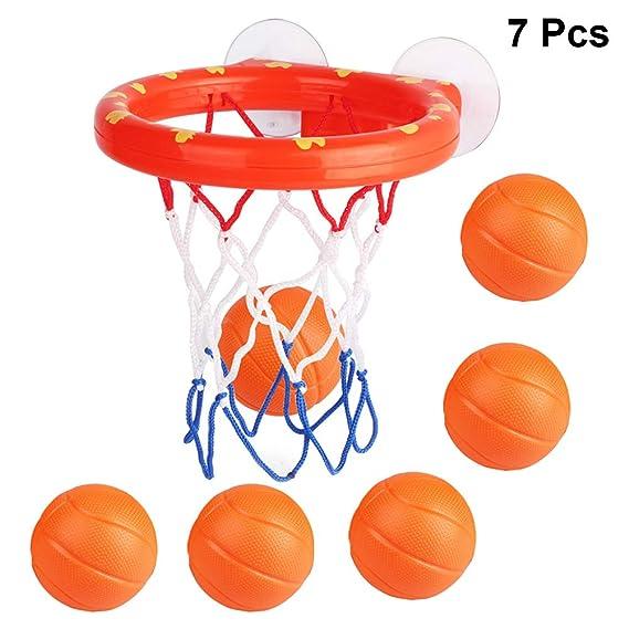 Toyvian 7 Piezas Juego de Baloncesto Niños Baloncesto de Baño para ...