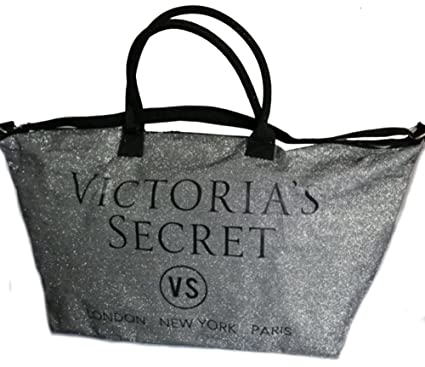 592a86e73f22 Amazon.com   VICTORIA SECRET LIMITED EDITION VS SILVER GLITTER TOTE  WEEKENDER - 2015 PINK   Everything Else
