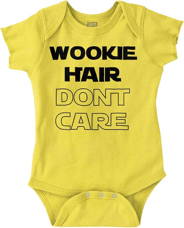 Brisco Brands Wookie Hair Don't Care Cute Nerdy Geeky Romper Bodysuit