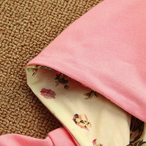 Jchen(TM)2pcs Toddler Baby Boys Girls Floral Print Hoodie Long Sleeve Tops+Pants Clothes Set Outfits (Age: 0-6 Months) by Jchen Baby Sets (Image #5)