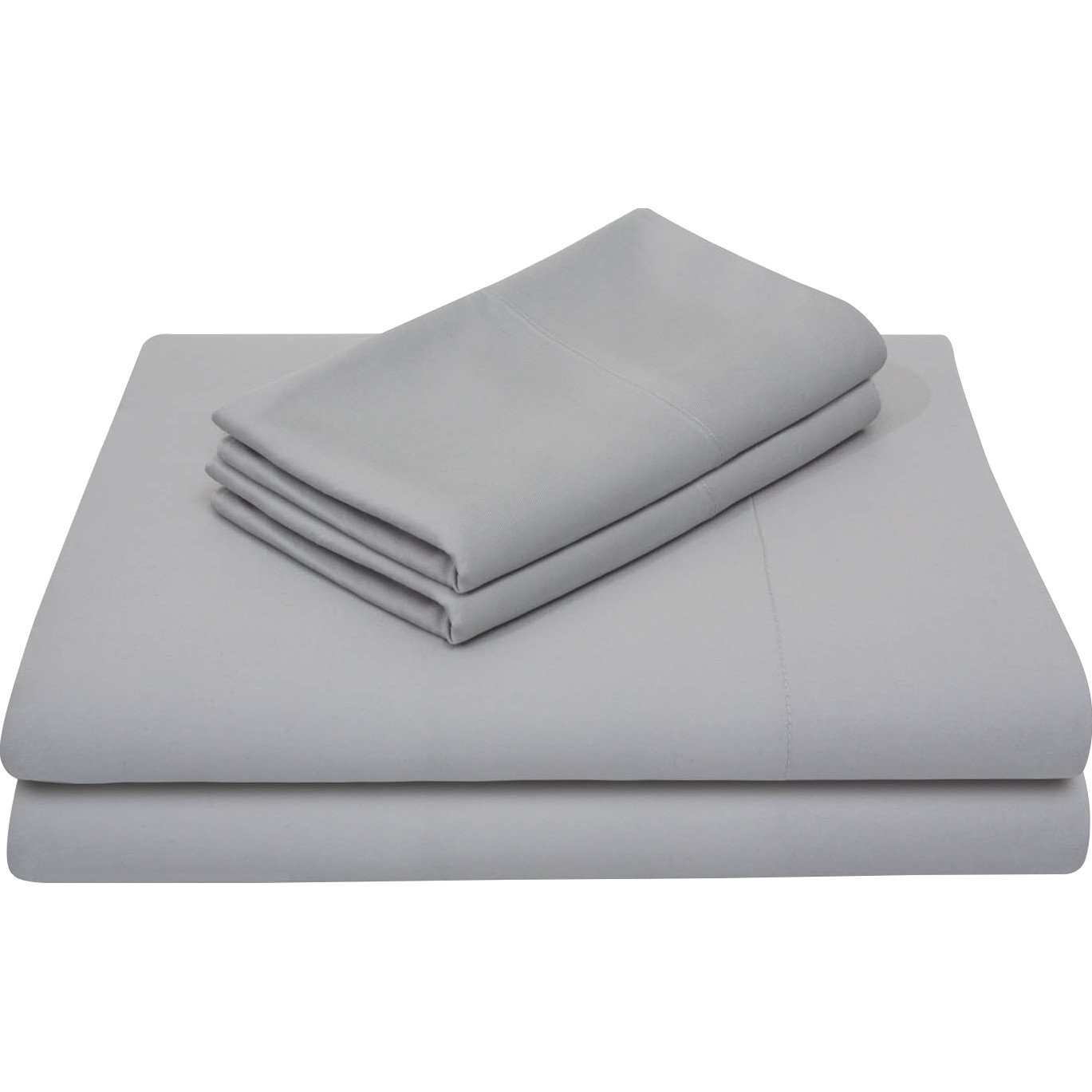 VEGAS HOTEL COLLECTION Home Quality - 1 Piece Flat Sheet ( Top Sheet ) Only - 100% Egyptian Cotton ( California King Size ) Hotel Series 1000 Thread Count Solid Color ( Silver Grey )