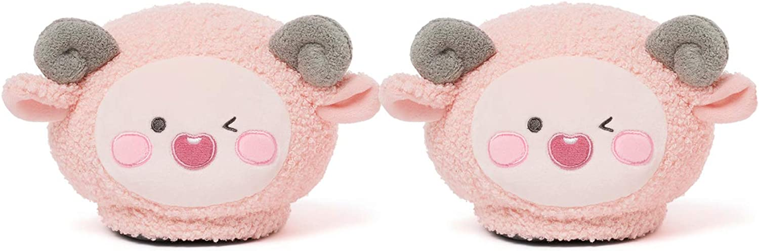 KAKAO FRIENDS Official- Lovely Apeach Plush Indoor Room Slippers Pink