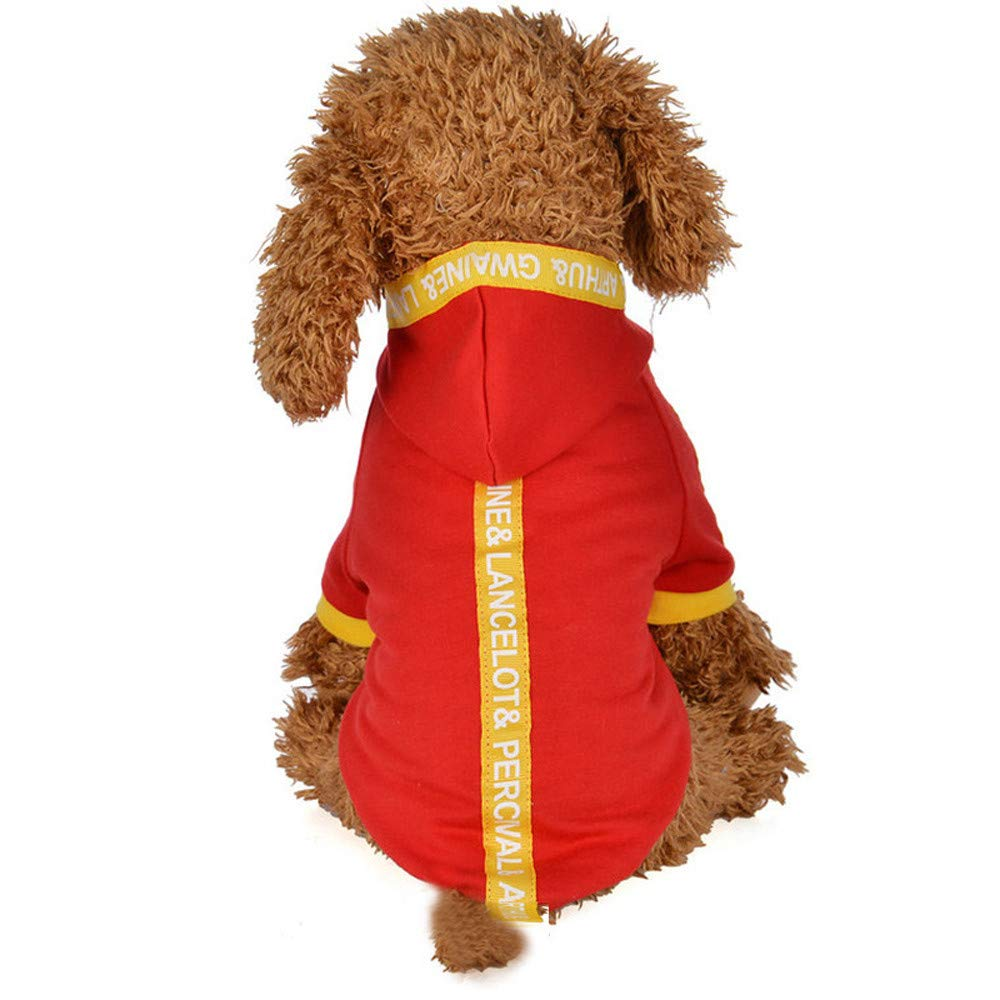 Geetobby New Pet Jacket with Hat Puppy Cat Kitten Dog Ribbon Sweatshirt Hoodies