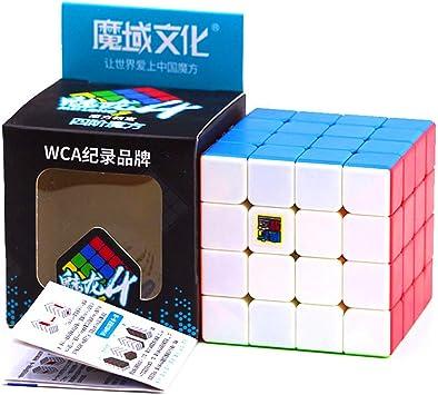 Cuberspeed Moyu MoFang JiaoShi Meilong Cubo mágico sin pegatinas 4x4 MFJS MEILONG 4x4x4 Cubing Classroom Meilong 4x4 Speed Cube: Amazon.es: Juguetes y juegos