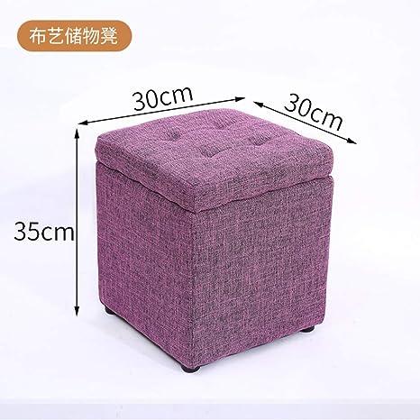 Magnificent Amazon Com Ssll Fabric Storage Stool Home Small Bench Inzonedesignstudio Interior Chair Design Inzonedesignstudiocom