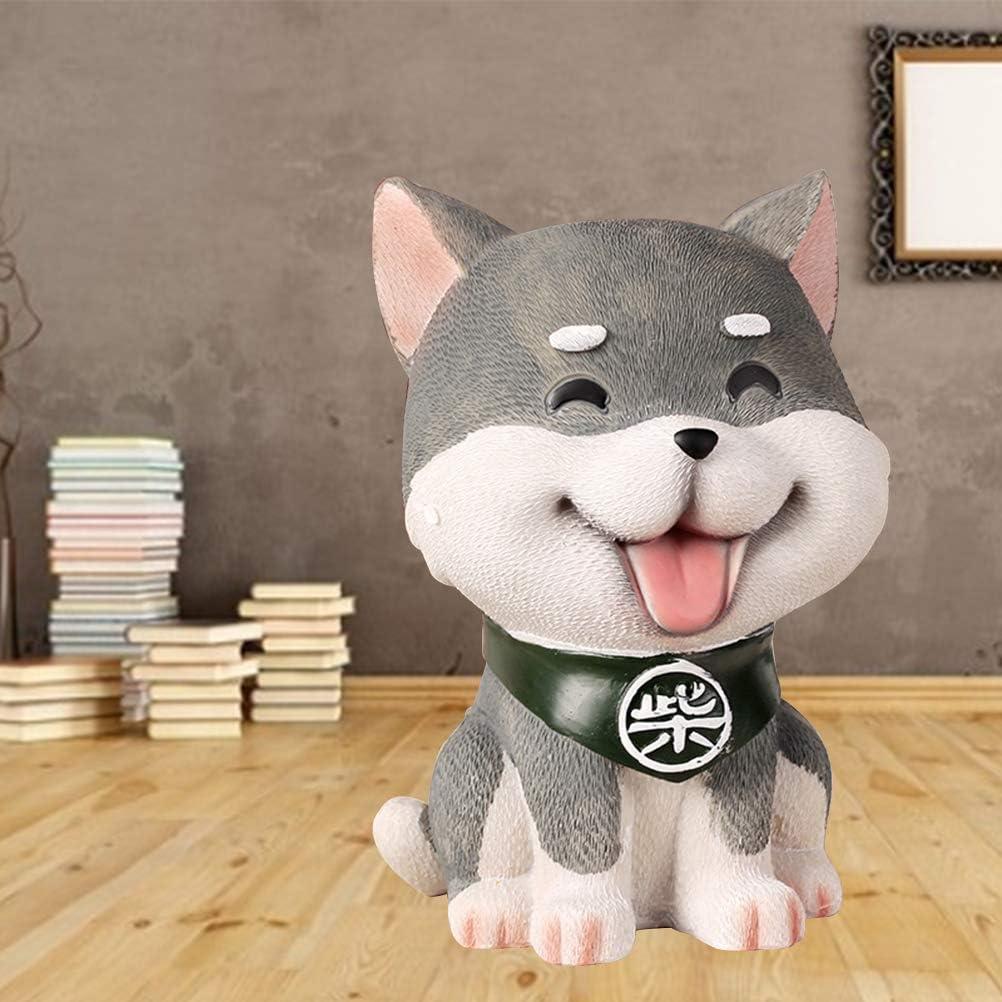 Mixed Pattern Toyvian Creative Piggy Bank Coin Bank Small Size Shiba Inu Shaped Money Holder Saving Pot
