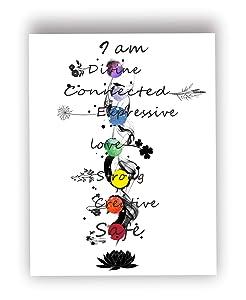 Barri Design Chakra Meditation Print,Flower Art,Spiritual Wall Art,Rainbow Chakra Art,Mindful Poster,Sacred Geometry,Yoga Studio Deco,Meditation Decor Spiritual Poster(UNFRAMED)