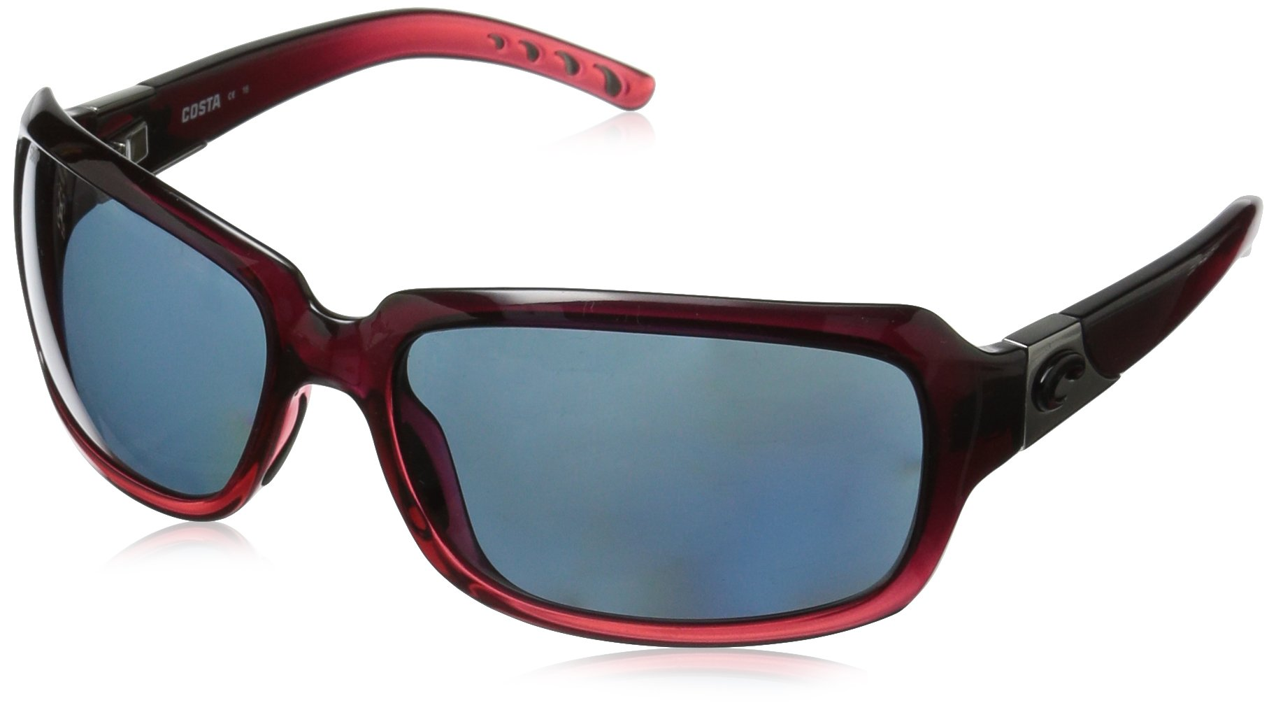 Costa del Mar Women's Isabela IB 48 OGP Polarized Oval Sunglasses, Pomegranate Fade, 63.2 mm