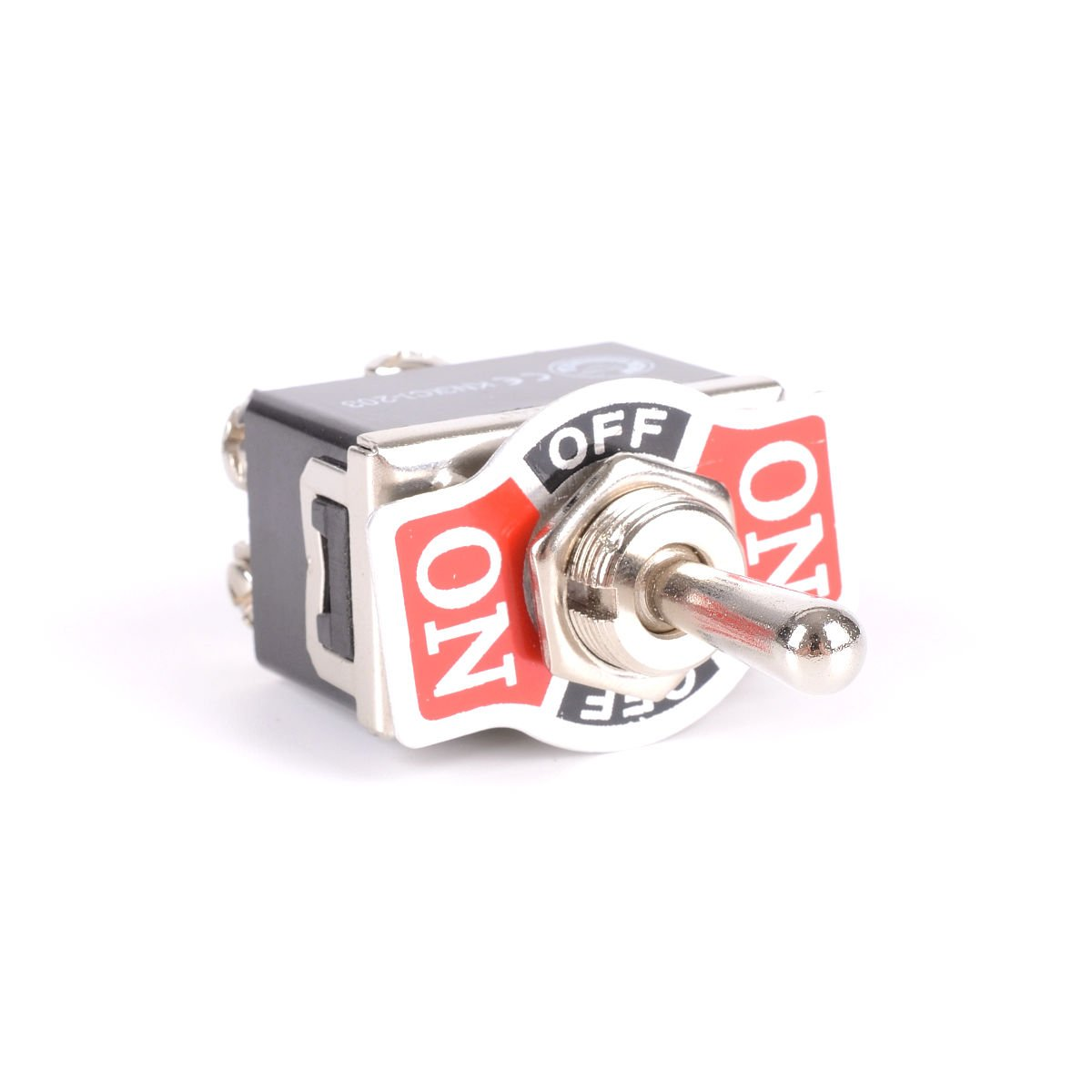 WINOMO 6 Pin Heavy Duty Toggle Switch Flick ON//OFF//ON Dashboard DPDT Switch with Red Protective Cover for Car Trailer Boat Marine
