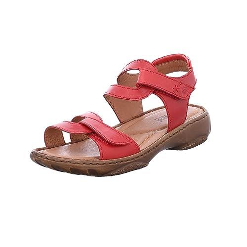 JOSEF SEIBEL Damen DEBRA 19 Sandalen Sandaletten rot Klettverschluss