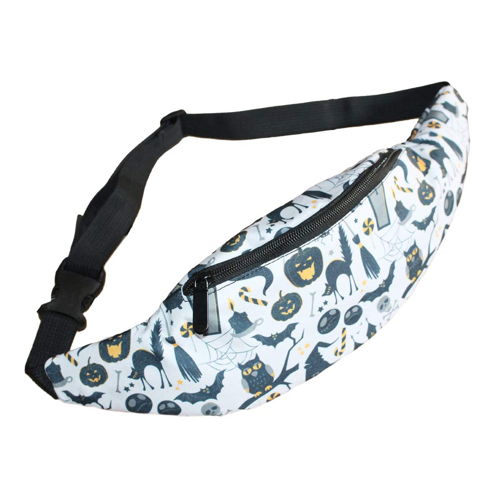 colorful 3 Childrens Halloween Gift 3D Colorful Printed Fanny Packs for Boys Girls Kids Waist Bag for Candy Daypacks Travel Bags