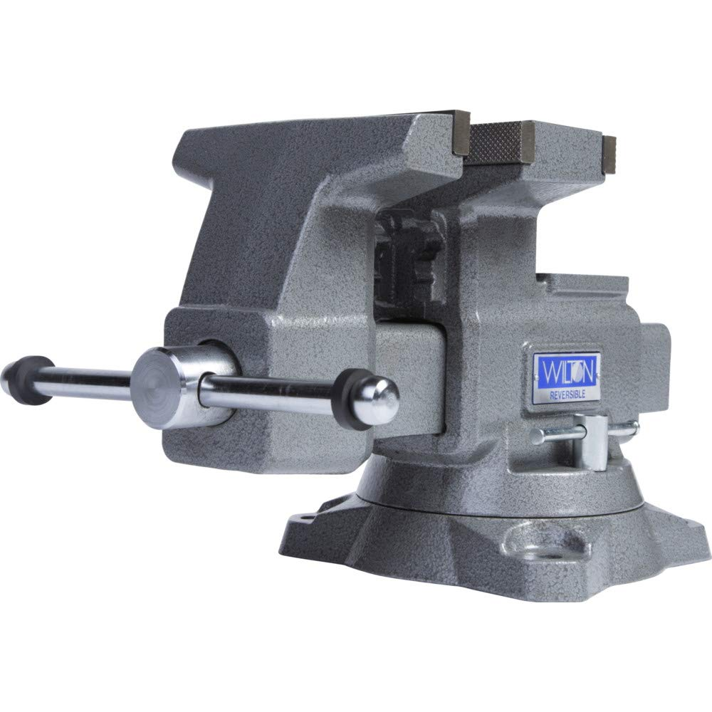 4650R, Reversible Bench Vise, 6-1/2'' Jaw Width, 7-1/4'' (12-3/4'' Reversed) Jaw Opening, 4'' Throat Depth by Unknown
