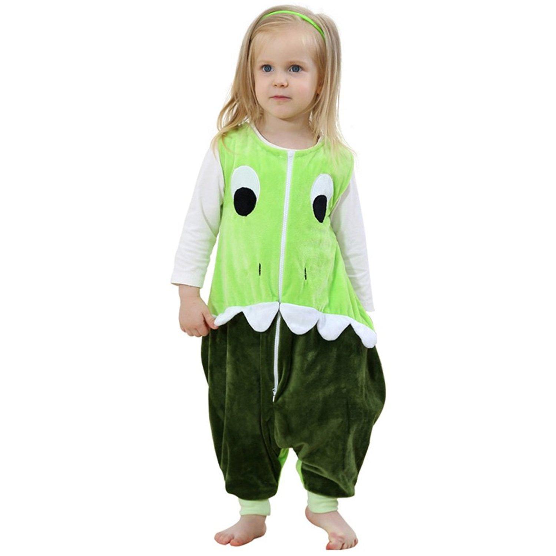 ZEEUAPI - Saco de dormir con piernas de franela para bebés niños infantíl Ropa para dormir (L (5-6 años), Gris-Búho)
