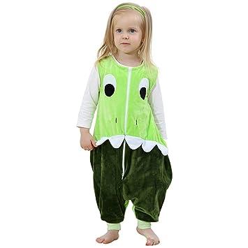 ZEEUAPI - Saco de dormir de franela para bebés niños infantíl Ropa para dormir (M (3-5 años), Verde - dinosaurio): Amazon.es: Hogar