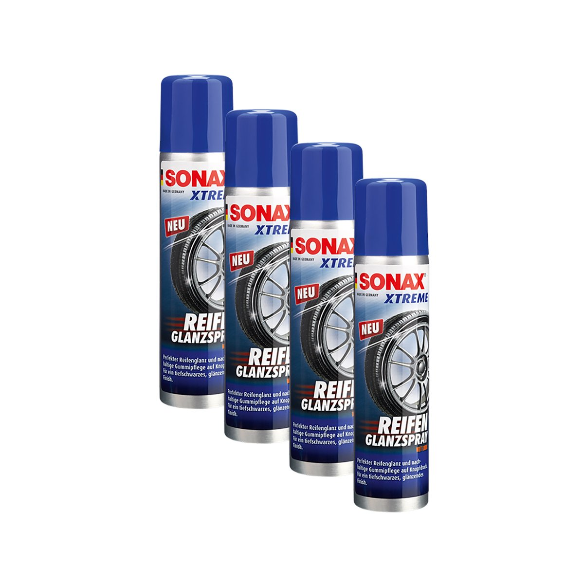 SONAX 4X 02353000 Xtreme ReifenGlanzSpray Wet Look Reifenspray 400ml