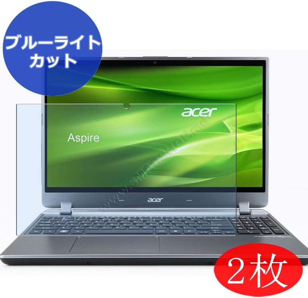 """【2 Pack】 Synvy Anti Blue Light Screen Protector for ACER Aspire M5-582pt 15.6"""" Screen Film Protective Protectors [Not Tempered Glass]"""