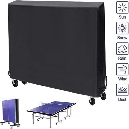 Pathonor Couverture De Table De Ping Pong 165x185x70cm Housse
