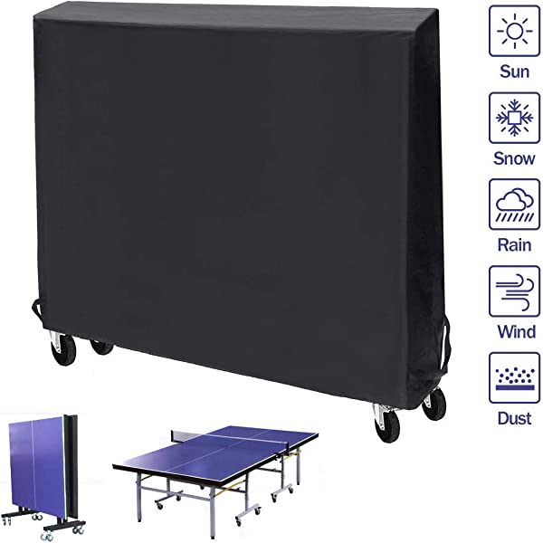 Black Table Tennis//Ping Pong Table Cover Indoor//Outdoor 210//420D