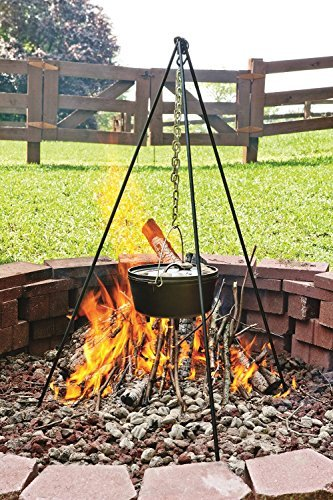 Lodge 8 Quart Camp Dutch Oven. 12 Inch Pre Seasoned Cast Iron Pot and Lid with Handle for Camp Cooking by Lodge (Image #7)