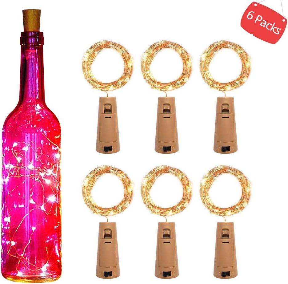 Piles Inclus LEDGLE Guirlande Lumineuse LED /à Piles en Cuivre 1.5M 30 LED pour la D/écoration de Interieur Ext/érieur Soir/ées Costume Mariage Blanc Chaud