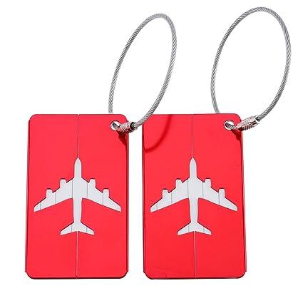 ae8bbc890c24 Amazon.com | Travel Tags Aluminum Alloy Luggage Tags Set Travel ...