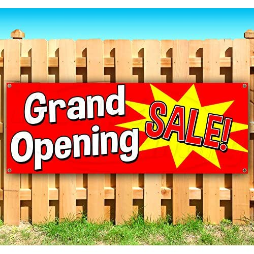GRAND OPENING SALE 13 oz heavy duty vinyl banner sign with metal grommets, new, store, advertising, flag, (many sizes available) free shipping