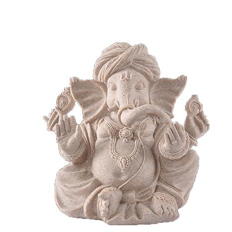 OMEM Decoración para pecera, estatua de Buda Ganesh, adornos para acuario, decoración para