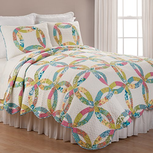 C&F Home Emma's Wedding Ring Twin 2 Piece Quilt Set Twin 2 Piece Set Emma's Wedding ()