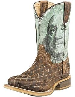 Tin Haul Boys Money Western Boot Square Toe
